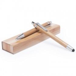 Zestaw piśmienny, bambusowy długopis i ołówek mechaniczny