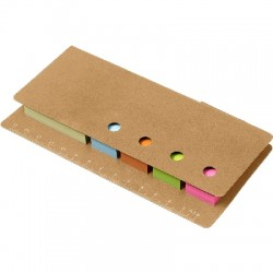 Zestaw do notatek, linijka, karteczki samoprzylepne, długopis
