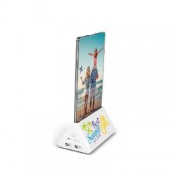 Stacja do ładowania z miejscem na reklamę, power bank 10000 mAh, 2 porty USB