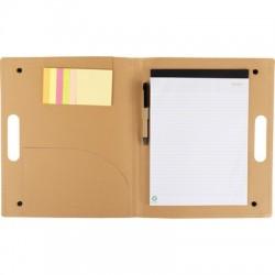Teczka konferencyjna, notatnik ok. A4, długopis, karteczki samoprzylepne
