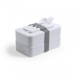 Antybakteryjne pudełka śniadaniowe 2 szt., 2x700 ml, sztućce