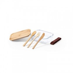 Bambusowy pojemnik na tabletki z 3 przegrodami