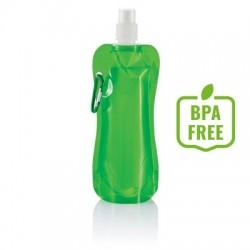 Składana butelka sportowa 400 ml z karabińczykiem