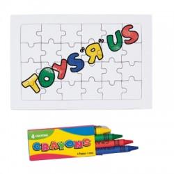Puzzle, kredki świecowe